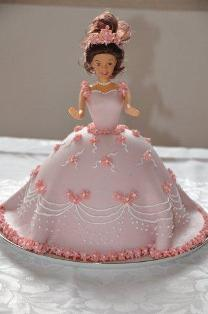Birthday Princess Cake With Fondant and Picture